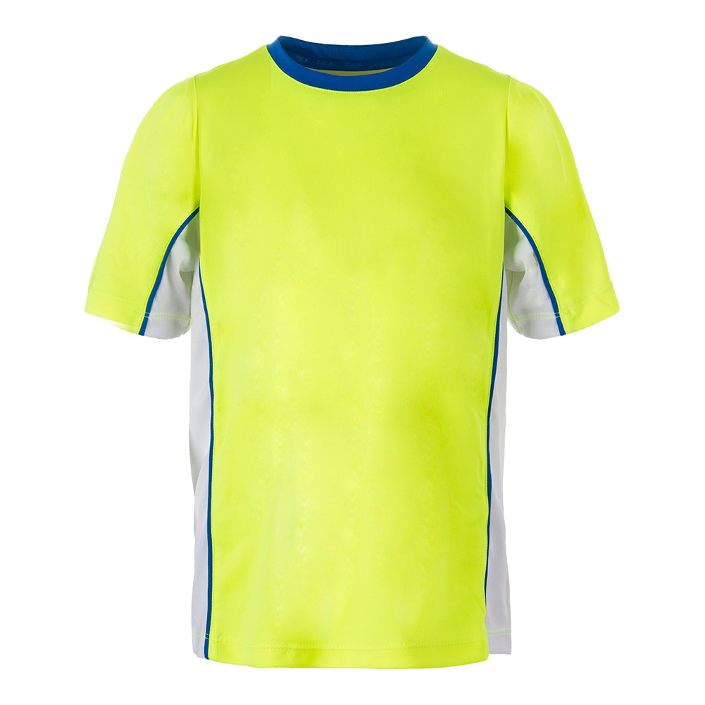 Boys'slice Piped Tennis Crew Safety Yellow