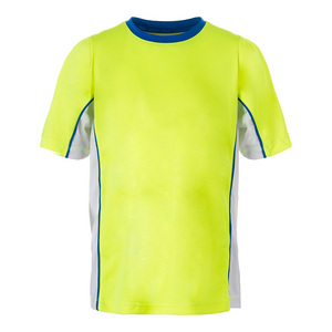 Boys` Slice Piped Tennis Crew Safety Yellow