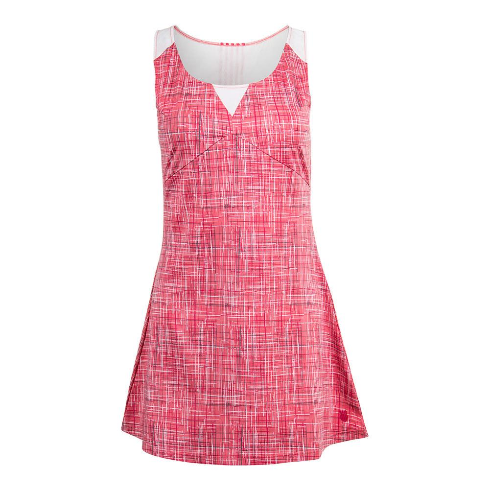 Women's Adcourt Tennis Dress Raspberry Print