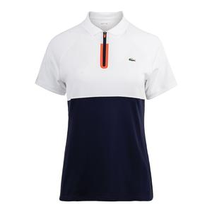 Women`s Short Sleeve Color Block Ultra Dry Technical Tennis Polo