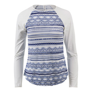 Women`s Nordica Long Sleeve Sheer Body Tennis Top Print
