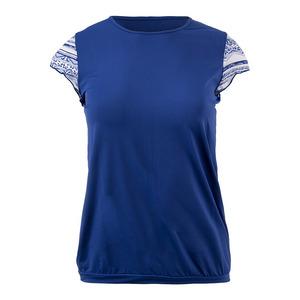 Women`s Nordica Cap Sleeve Tennis Top Blue