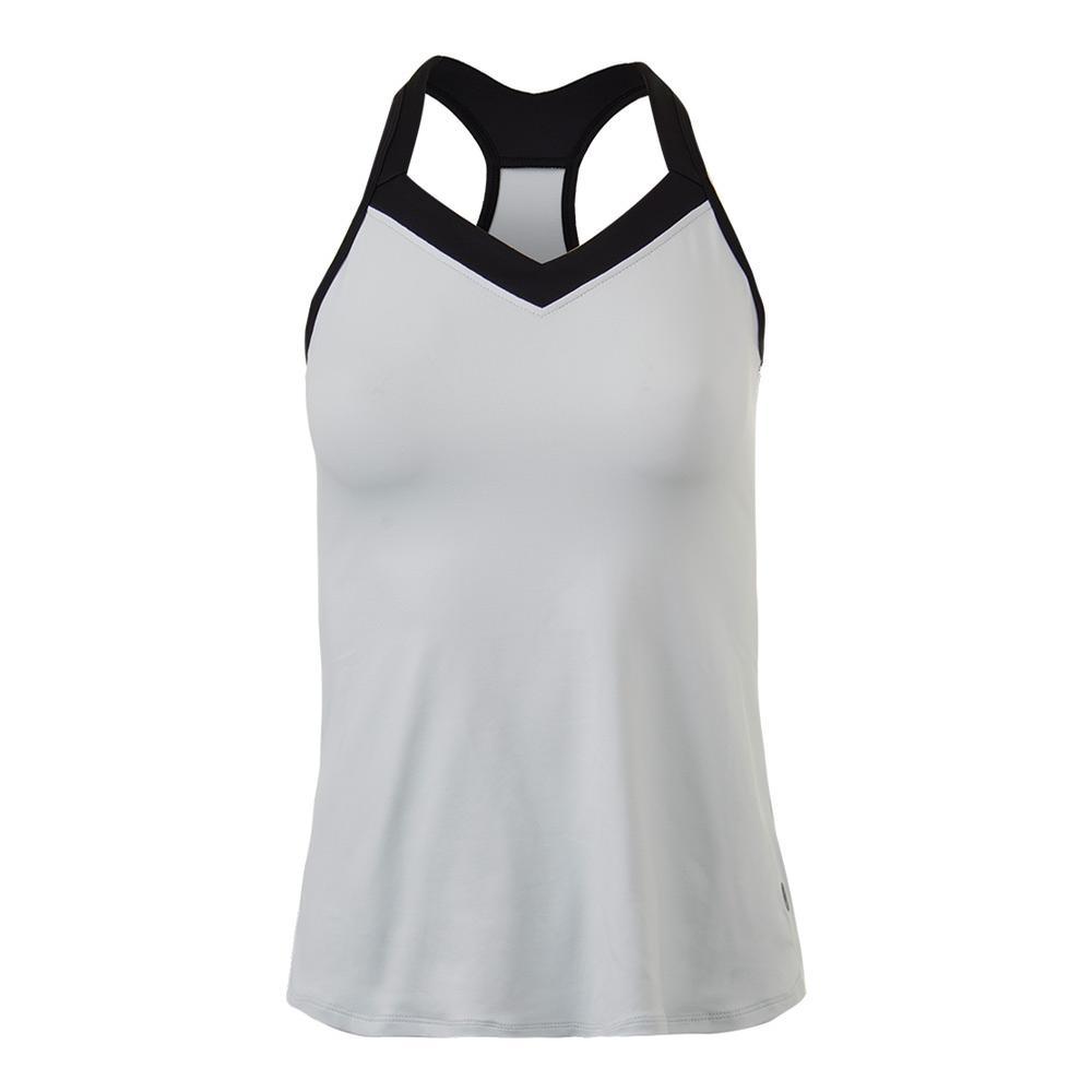 Women's Cross Back Tennis Tank White