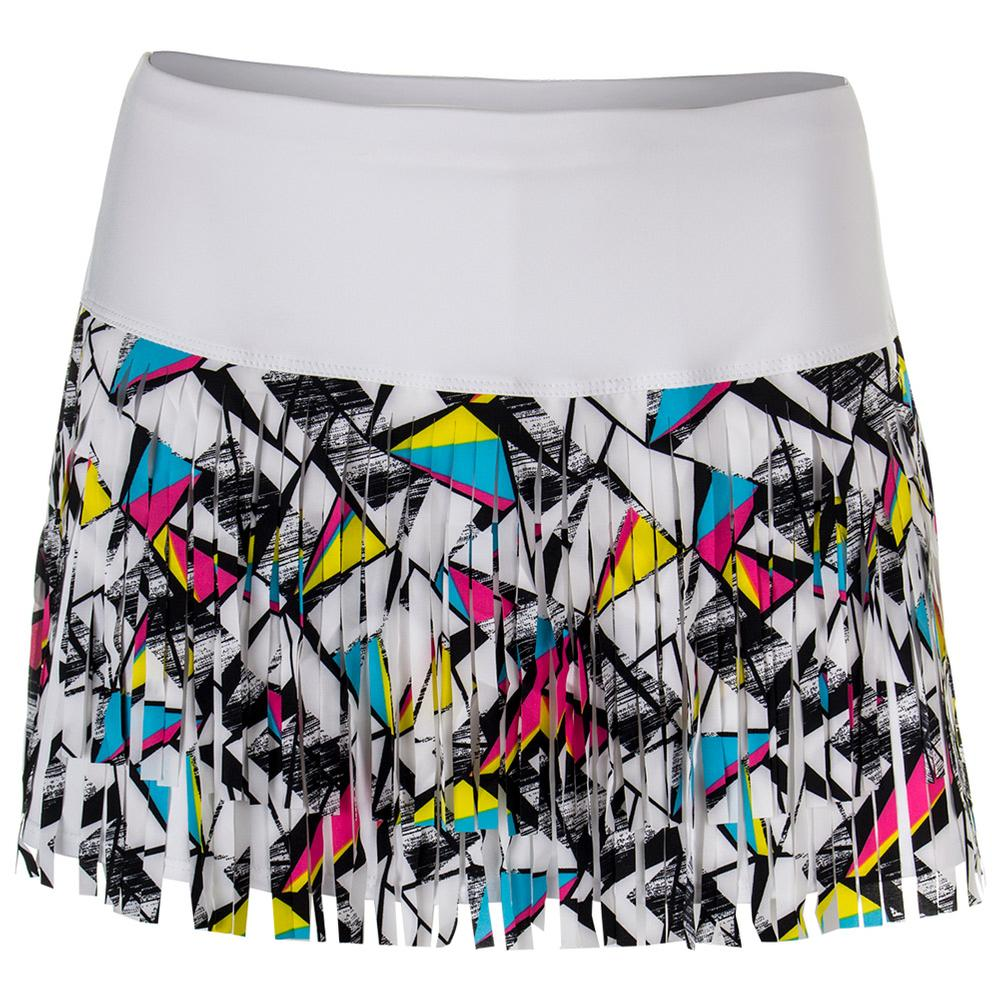 Women's Shape Up Fringe Tennis Skort Print