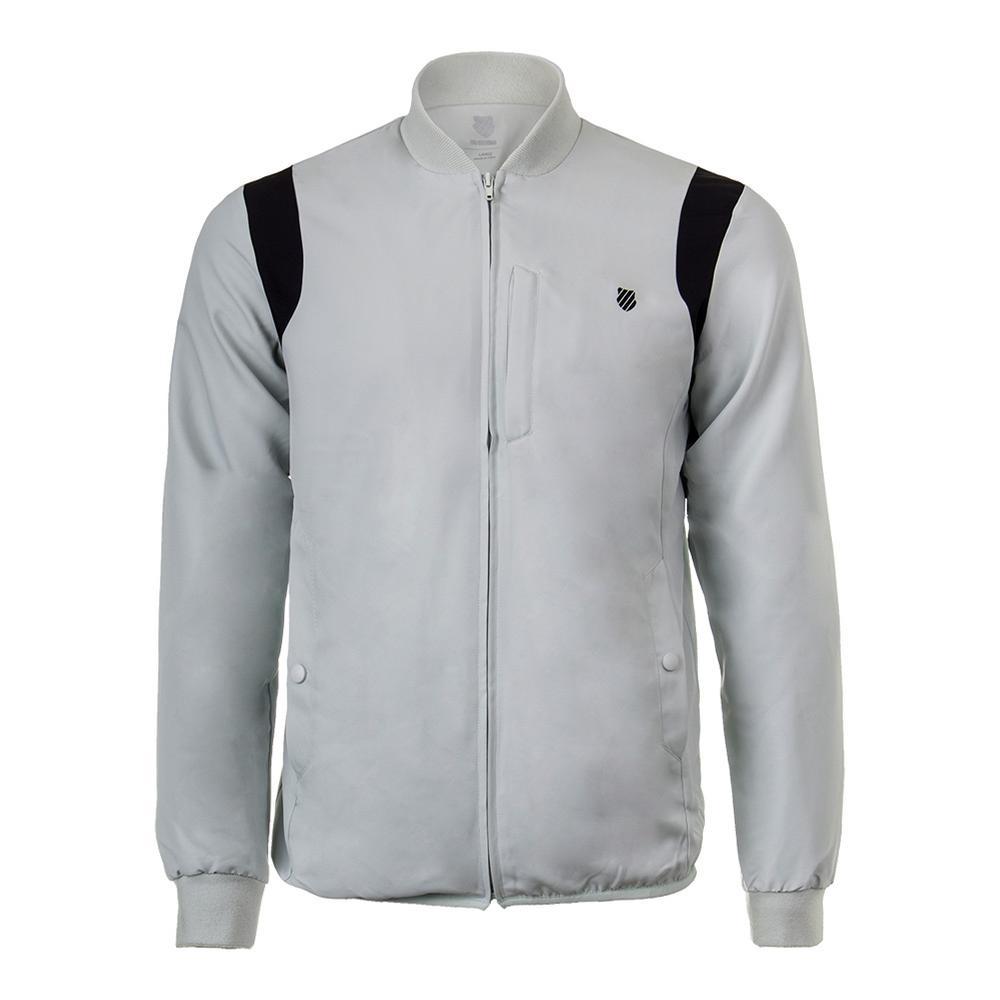 Men's Warm- Up Tennis Jacket Mercury And Black