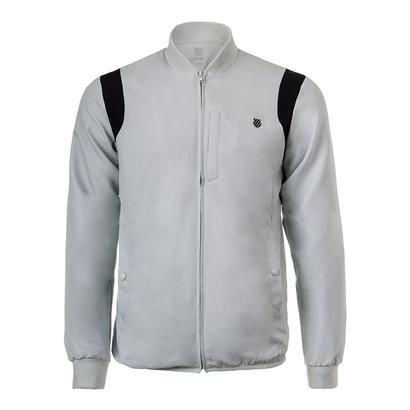 Men`s Warm-Up Tennis Jacket Mercury and Black