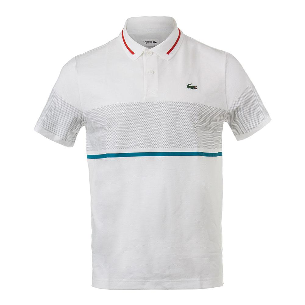 Men's Chest Stripe Super Lite Knit Tennis Polo