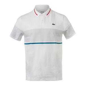 Men`s Chest Stripe Super Lite Knit Tennis Polo