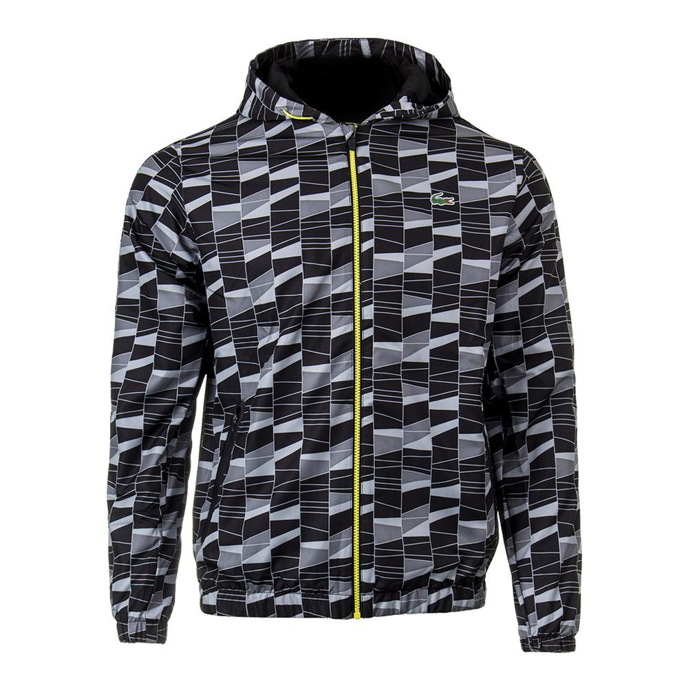 Men's Allover Print Tennis Tracksuit Black And Lemon Tree