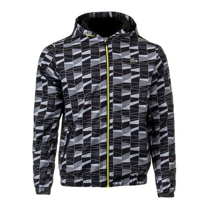 Men`s Allover Print Tennis Tracksuit Black and Lemon Tree