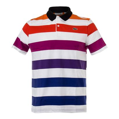 Men`s Lifestyle Ombre Effect Tennis Polo White and Black