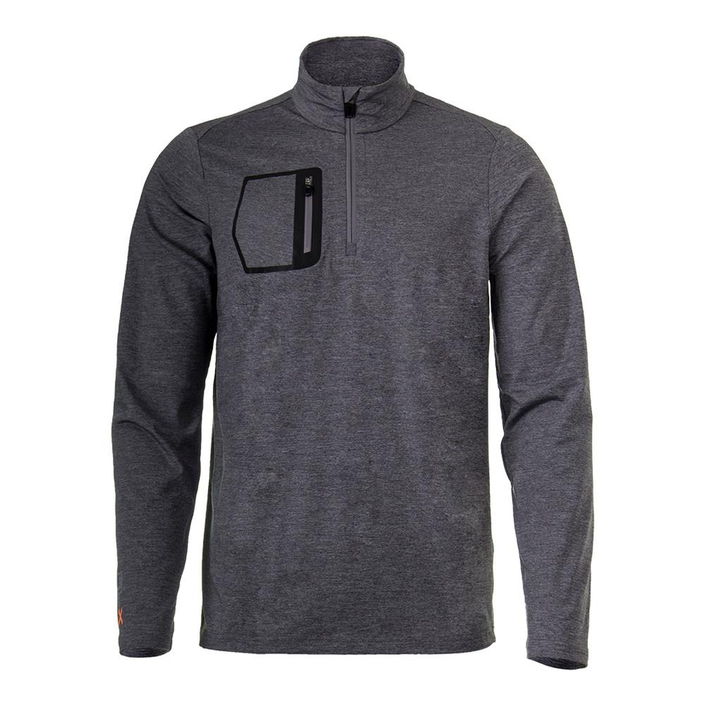 Men's Brushed Back Long Sleeve Top Gray Heather