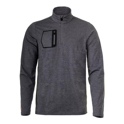 Men`s Brushed Back Long Sleeve Top Gray Heather