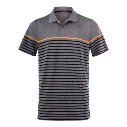 Men`s Striped Engineered Polo Gray Heather