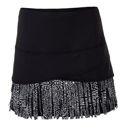 Women`s Long Tribal Fringe Scallop Tennis Skort