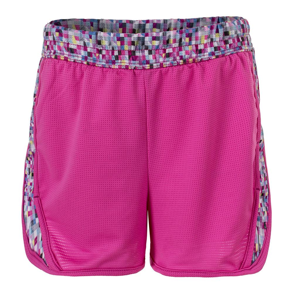 Girls ` Game Changer Tennis Short Pinkberry