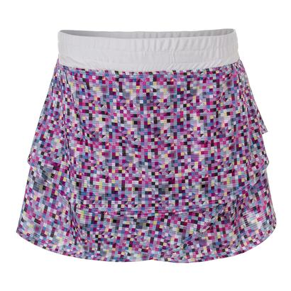 Girls` Snap It Tennis Skort Print