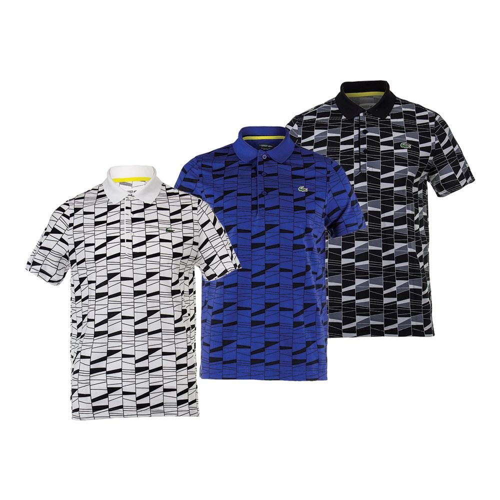 Men's Allover Pattern Superlight Tennis Polo