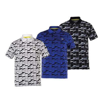 Men`s Allover Pattern Superlight Tennis Polo