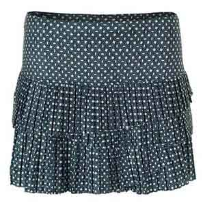Women`s Deco Pleat Scallop Tennis Skort Spruce