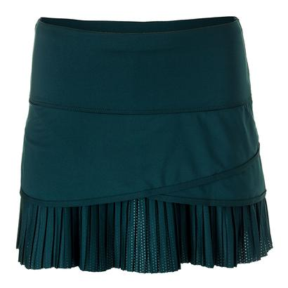 Women`s Long Scallop Pleat Tennis Skort Spruce