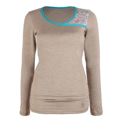 Women`s Classic Long Sleeve Tennis Top Sand