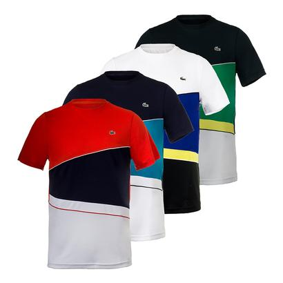 Men`s T2 Geometric Stripe Ultradry Tennis Tee