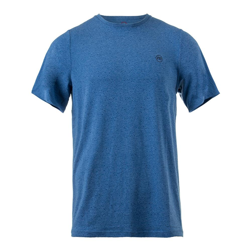 Men's Briggs Tennis Crew Heather Brilliant Blue
