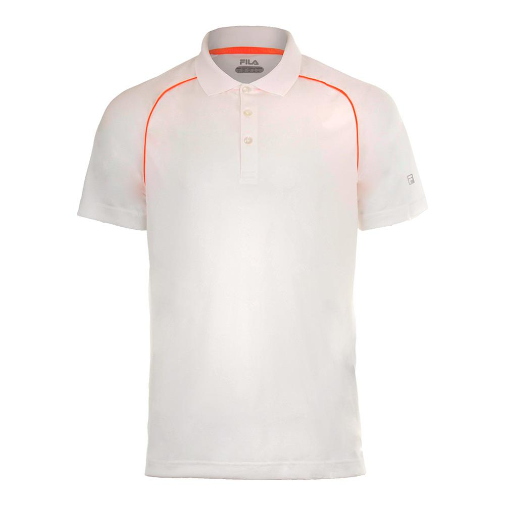 Men's Zephyr Piped Tennis Polo White