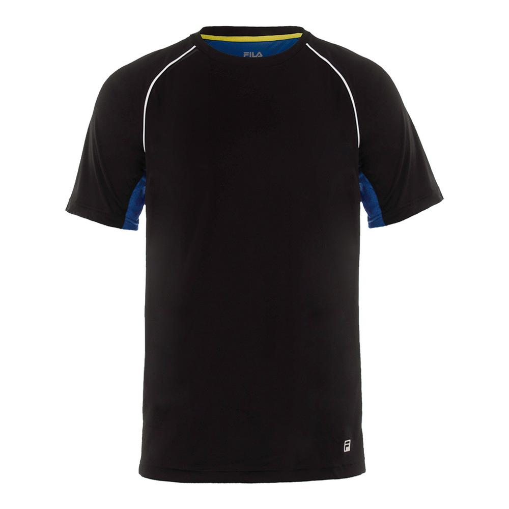 Men's Zephyr Piped Tennis Crew Black