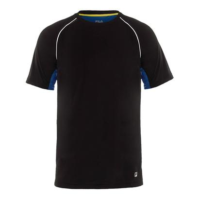 Men`s Zephyr Piped Tennis Crew Black