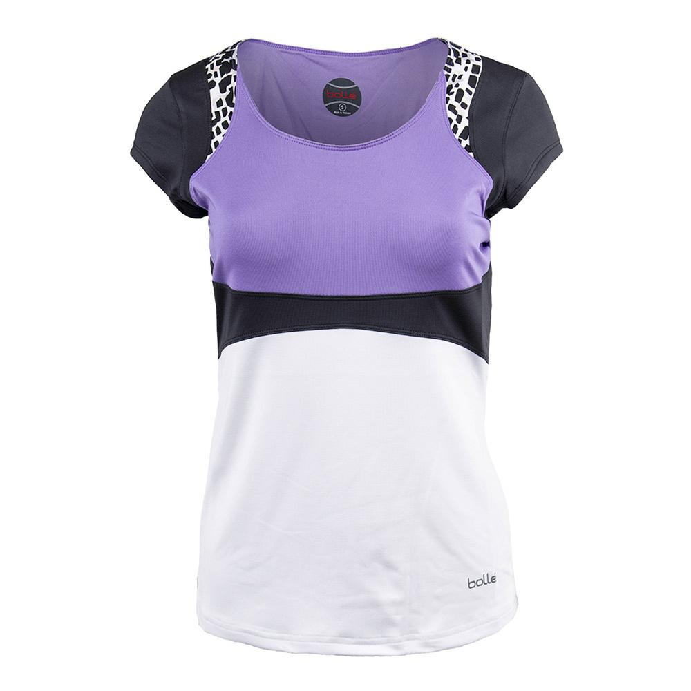 Women's Gianna Tennis Tank White And Lilac