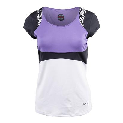 Women`s Gianna Tennis Tank White and Lilac