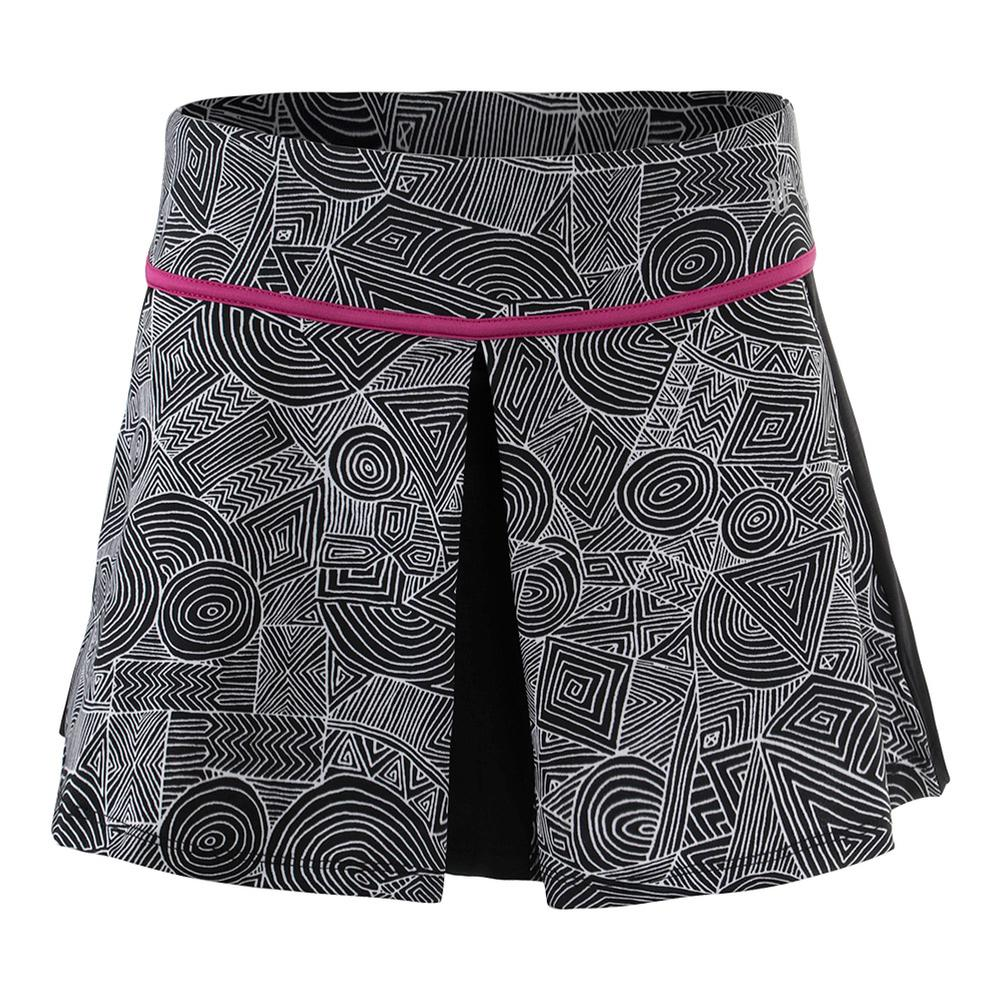 Women's 13 Inch Spin Tennis Skirt Intrepid Print