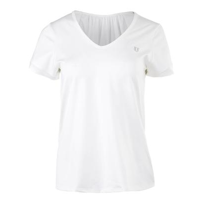 Women`s Intensity Short Sleeve Tennis Top White