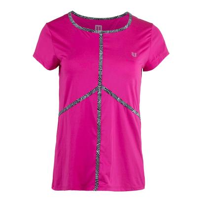 Women`s Energy Tennis Tee Boysenberry
