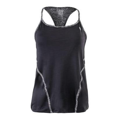 Women`s Glide Back Tennis Tank Black
