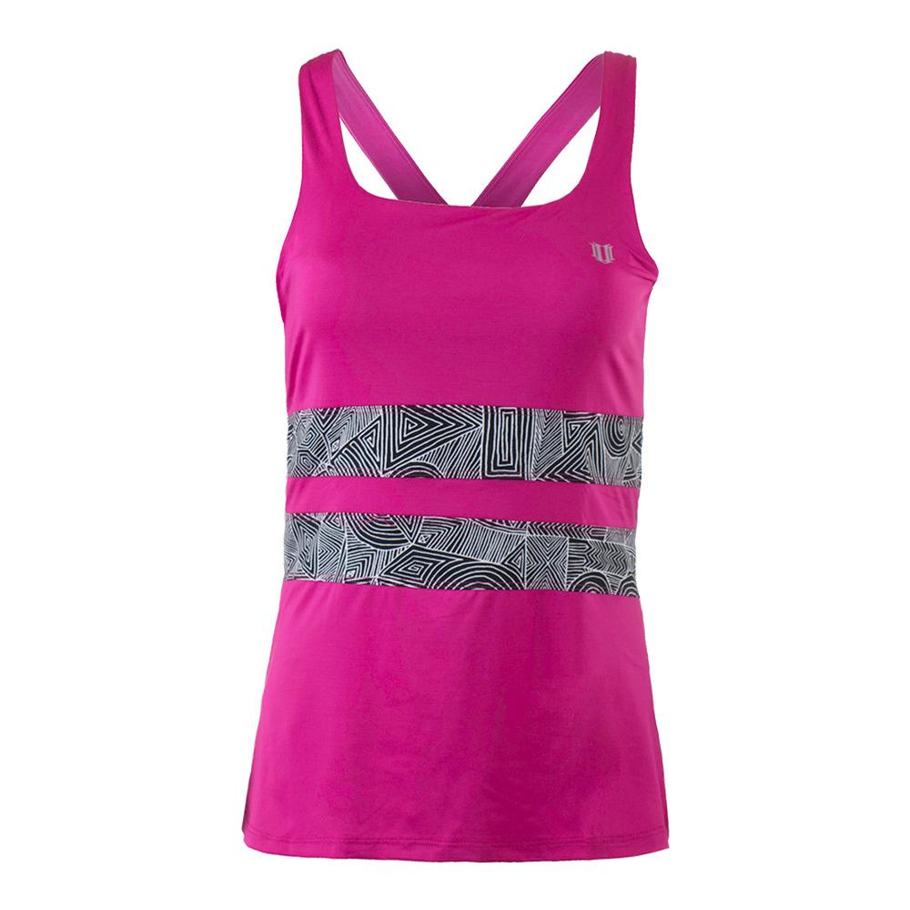 Women's Excel Tennis Tank Boysenberry