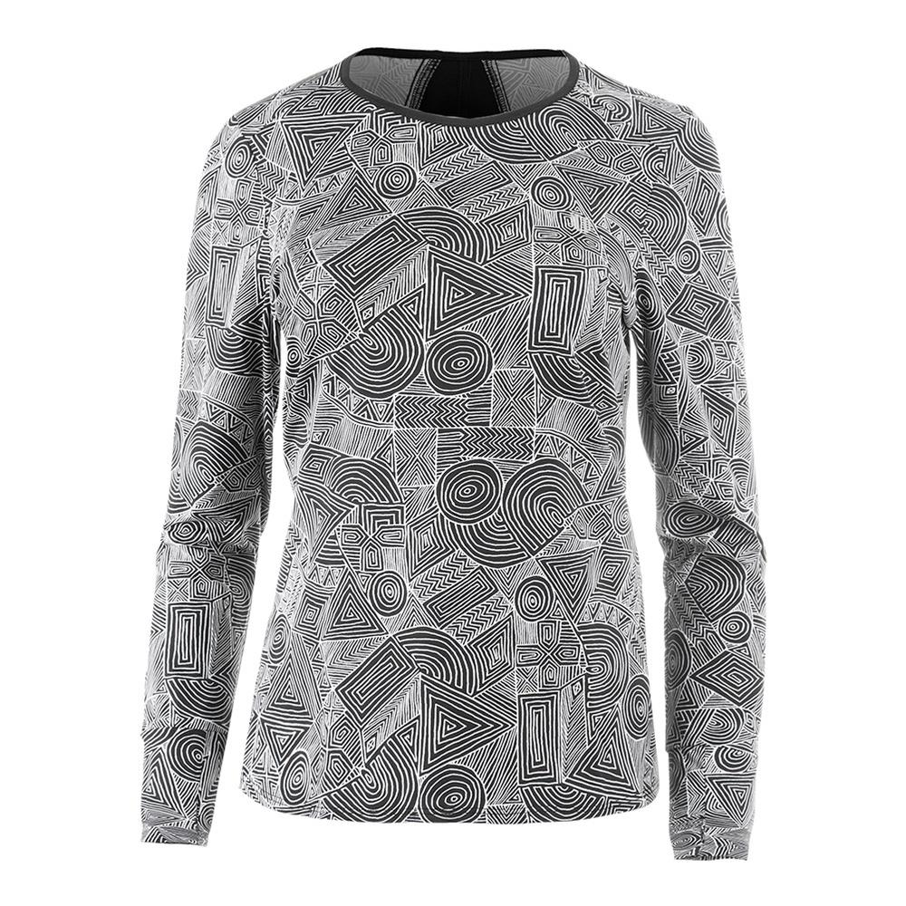 Women's Xtreme Long Sleeve Tennis Top Intrepid Print