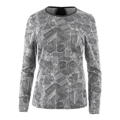 Women`s Xtreme Long Sleeve Tennis Top Intrepid Print