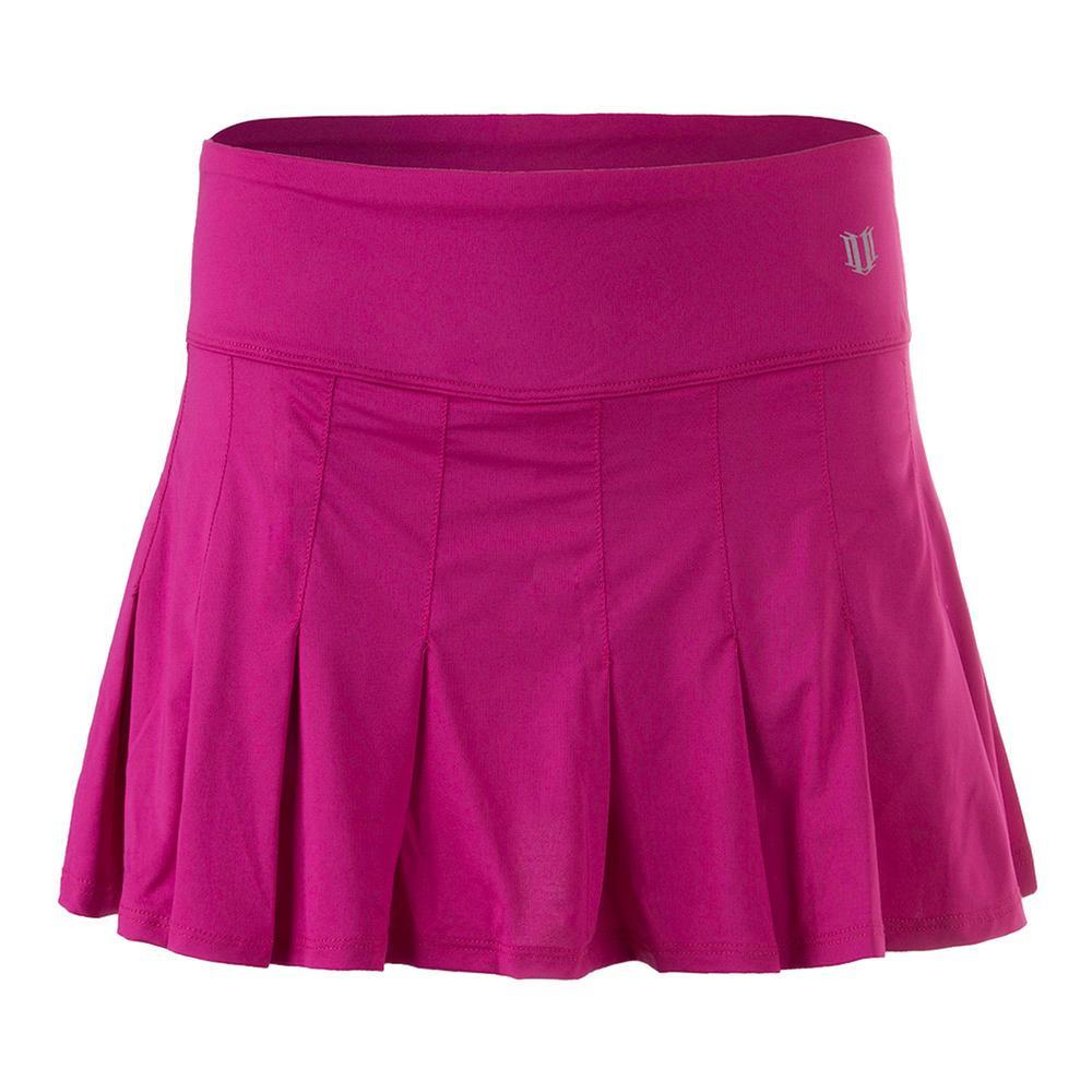 Women's 13 Inch Flutter Tennis Skirt Boysenberry