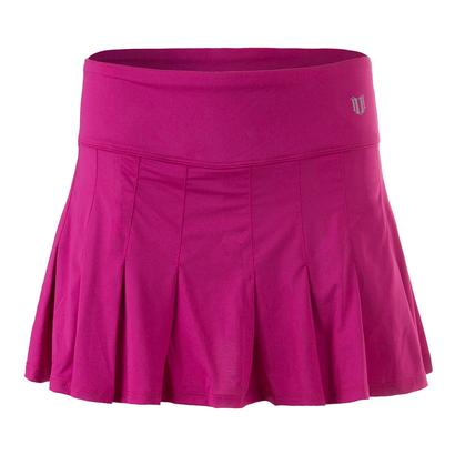 Women`s 13 Inch Flutter Tennis Skirt Boysenberry