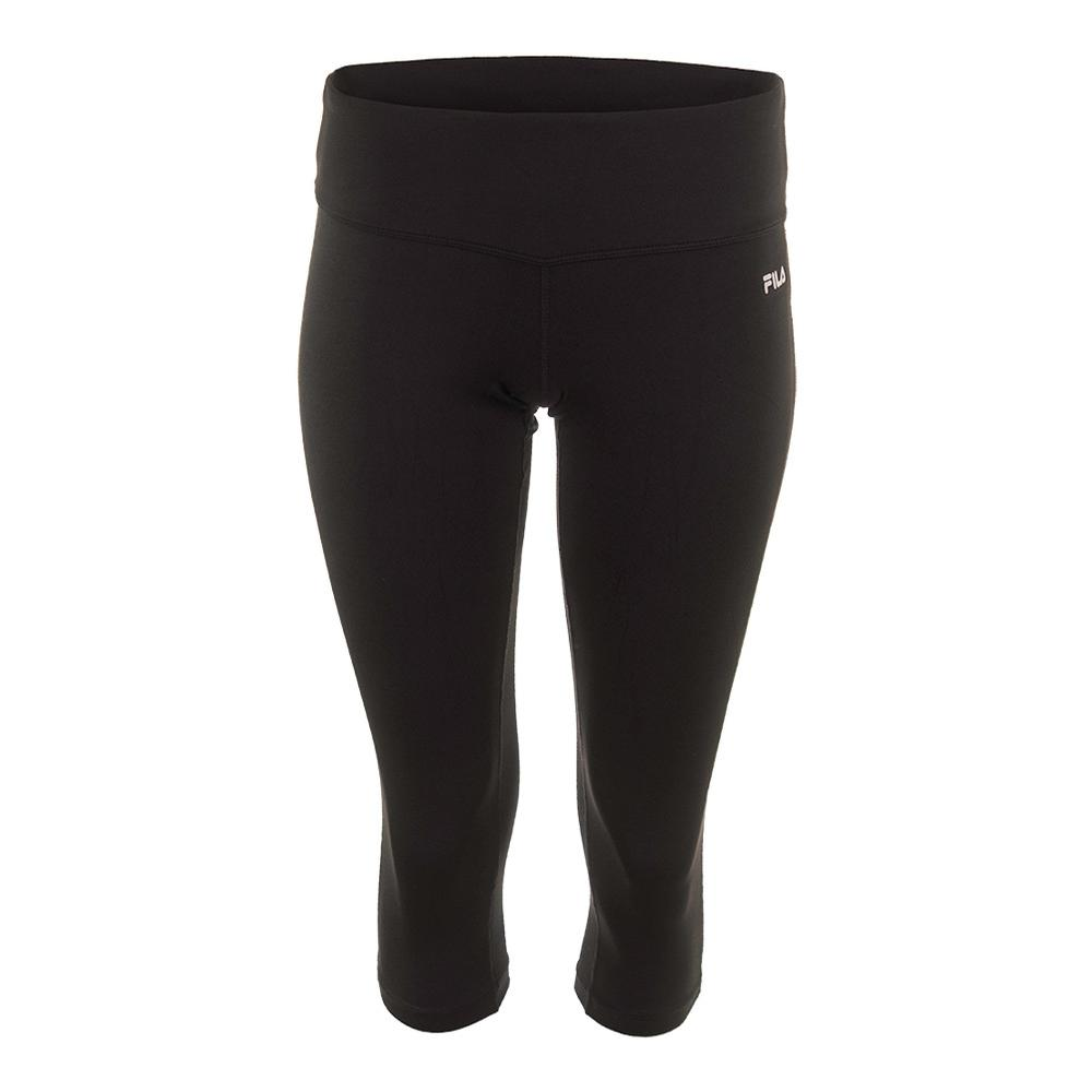 Women's Solid Tight Capri Black