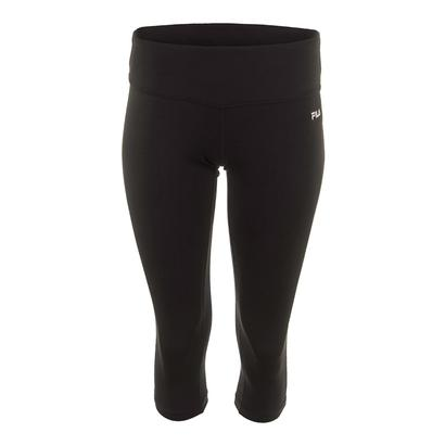 Women`s Solid Tight Capri Black