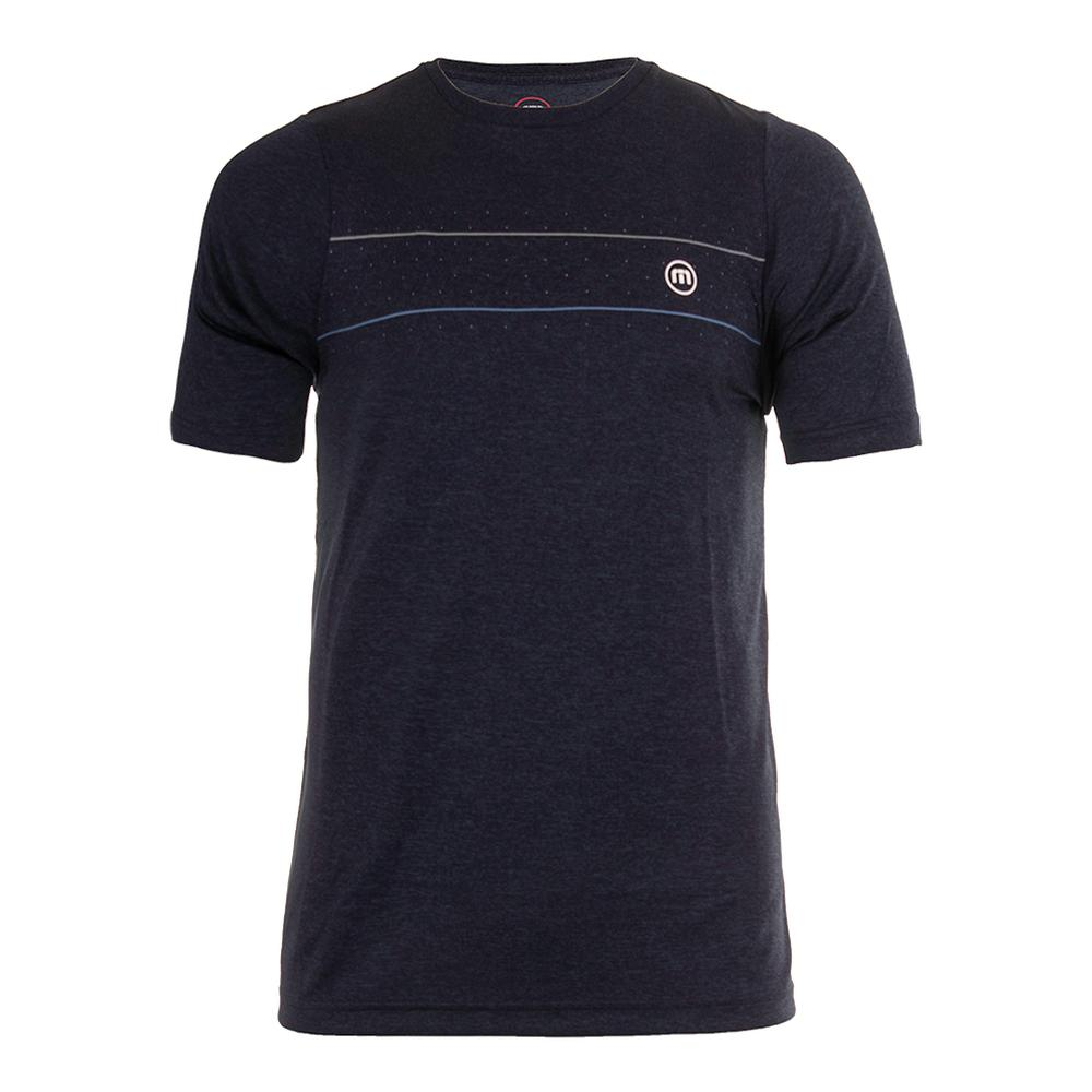 Men's Kinosian Tennis Crew Heather Dark Denim