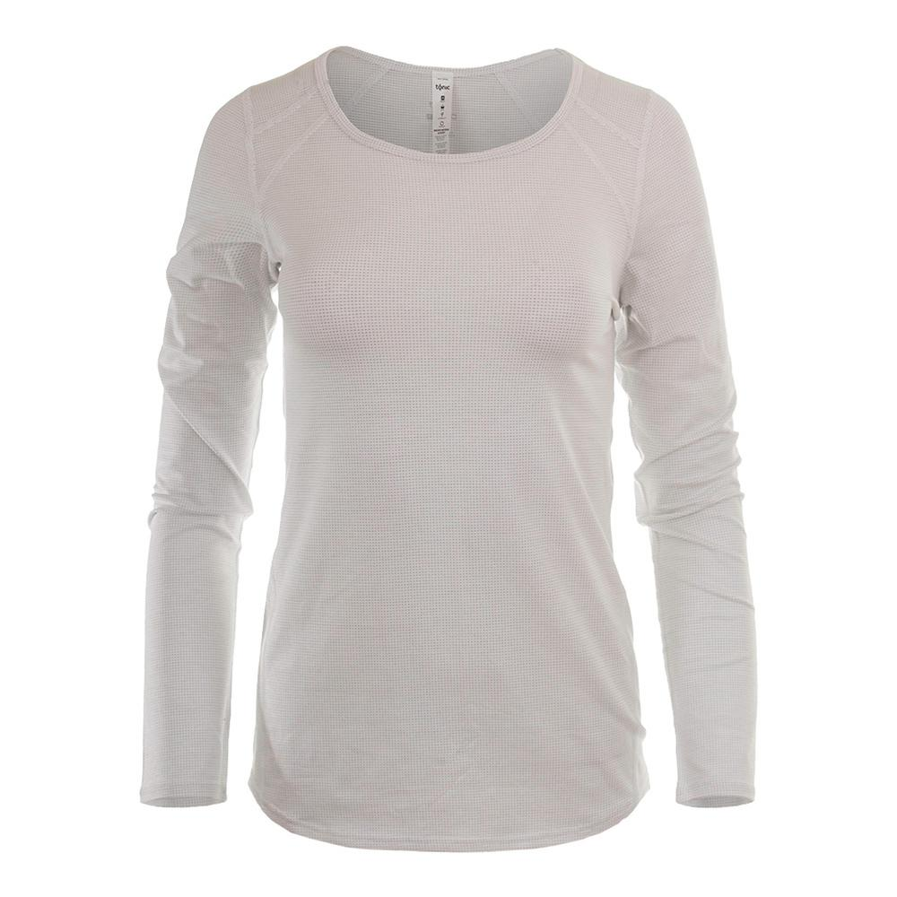 Women's Volley Long Sleeve Tennis Top White