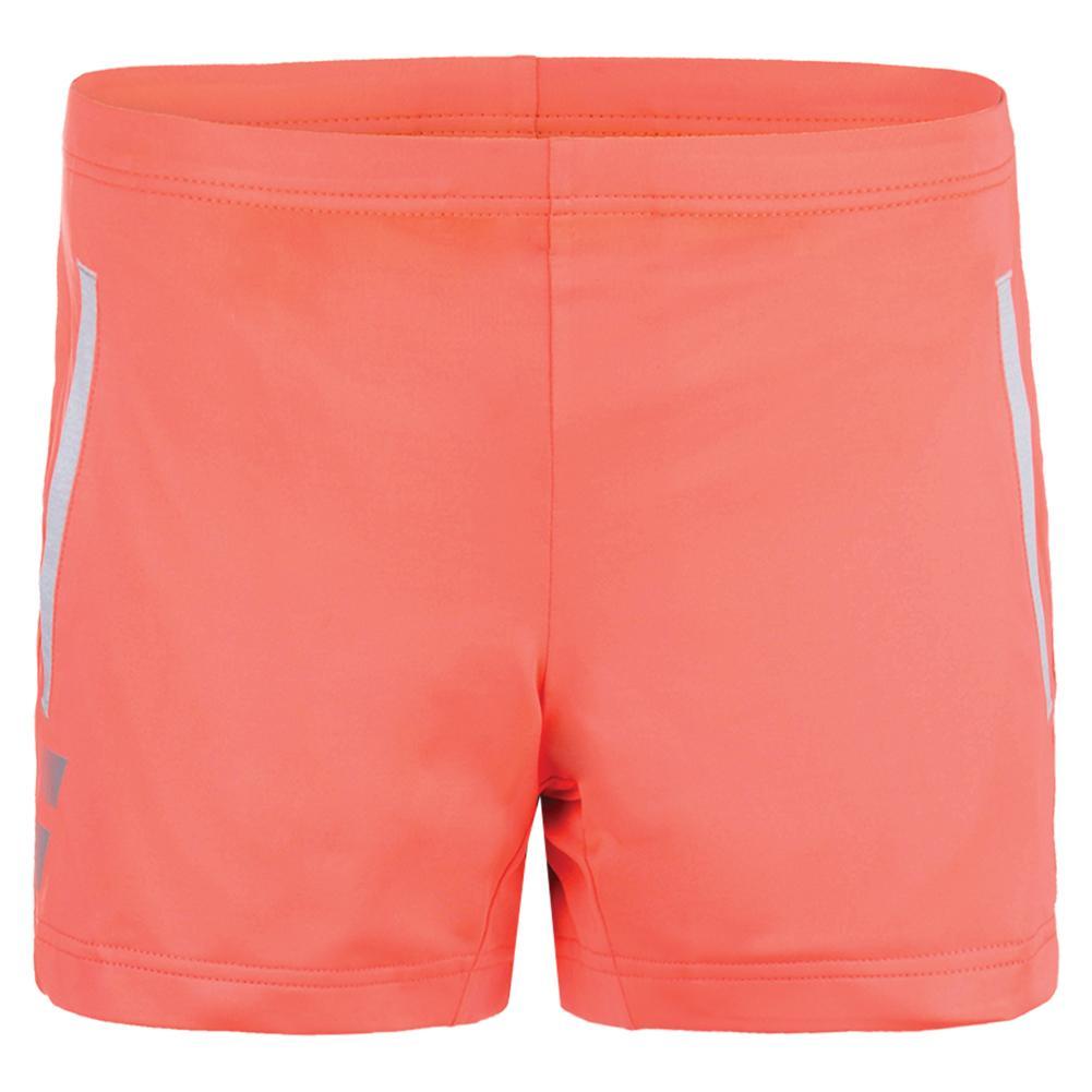 Girls ` Core Tennis Short Fluro Red