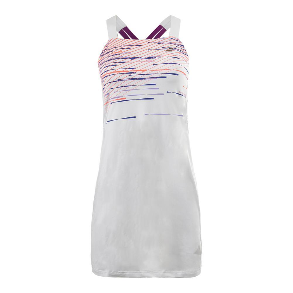 Women's Performance Strap Tennis Dress White