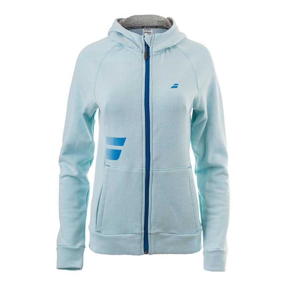 Women's Core Hood Tennis Sweat Light Blue