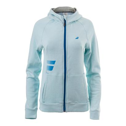 Women`s Core Hood Tennis Sweat Light Blue
